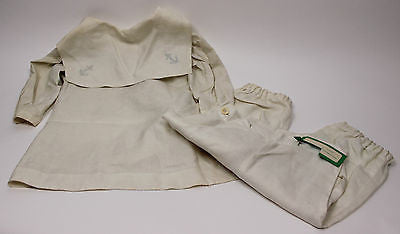 Antique White Linen Child's Navy Sailor Suit Deaccessioned From FIT