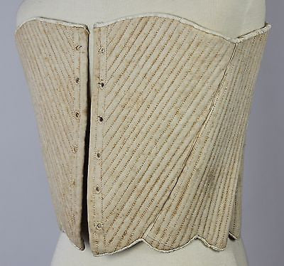 MET Museum Deaccessioned 18th Century Linen Stays American from 1775-1799