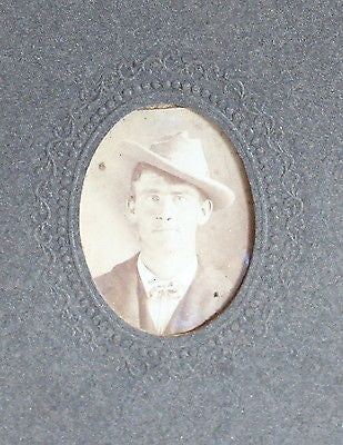 Original Antique Tintypes Portrait of a Man from the 19th Century
