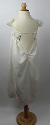 Early Antique White Cotton Child's Christening Gown