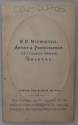 Four Original Carte de Visites CDVs Antique Photograph Mid 19th Century