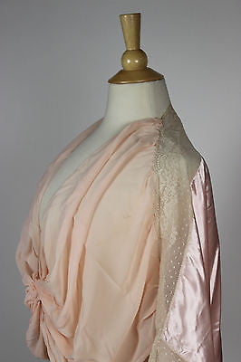 Vintage Lingerie Women's Pink Silk and Lace Night Shirt