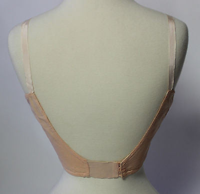 Vintage Women's Pink and Cream Lace Kleinerts Bra Form with Underarm Shield