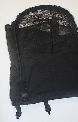 Vintage Women's Black Lace Lilees by Lily of France Corset