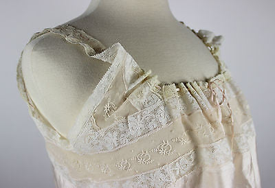 Antique Women's Silk and Lace Corset Cover