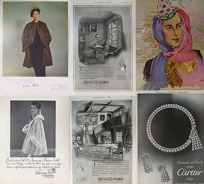 Original Vintage Dior Fashion Magazine Print Advertisement from the Mid 20th C