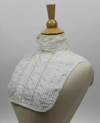 Antique Women's White Cotton Collar Insert