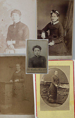 Five Original Carte de Visites CDVs Antique Photograph Mid 19th Century