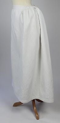 Lovely Antique White Quilted Petticoat a Bustle Underskirt from the 1880's