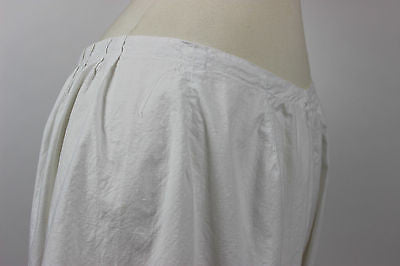 Antique Women's White Cotton Split Bottom Pantalettes from the 19th Century