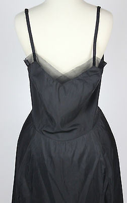 Vintage Women's Black Nylon Slip by Laros Size 40