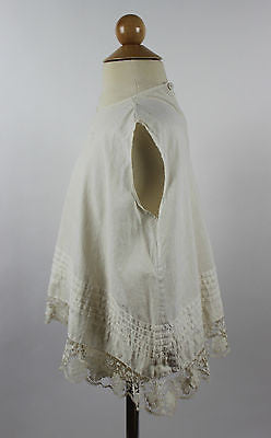 Antique White Cotton Child's Dress with Tucks