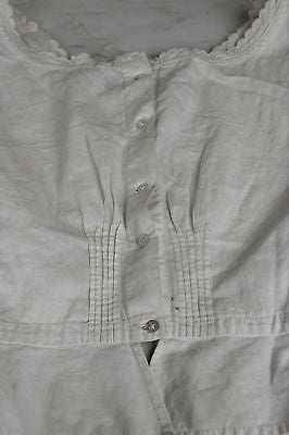 Lovely Antique Corset Cover White Cotton Camisole with Mother of Pearl Buttons