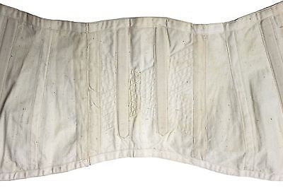Early 20th Century White Cotton Corset Laced Back Decorative Buttons & Quilting