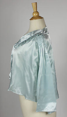 Vintage Lingerie Women's Power Blue Silk Night Shirt