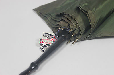 Authentic Vintage Green Umbrella with Original Retail Hanging Tag