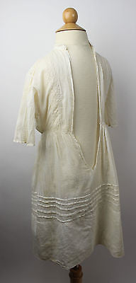 Antique White Cotton Child's Dress