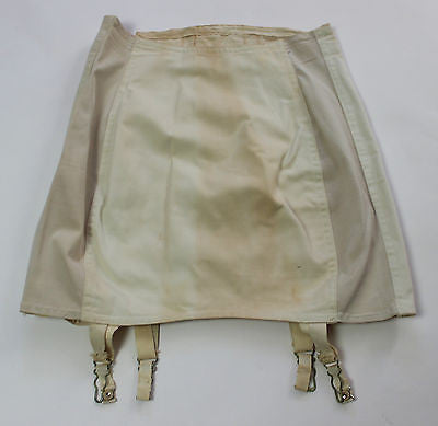 Vintage Women's White Cotton Corset Girdle by Formold