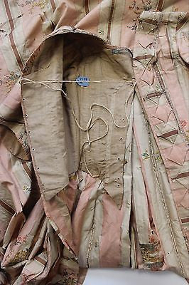 MET Museum 18th C Sacque Back Gown Padded Trim and Interior Boned Corset 1775-99