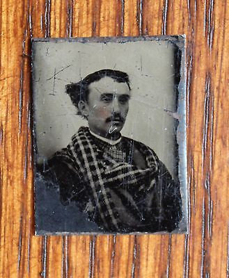 Three Original Antique Tintypes Portraits from the 19th Century
