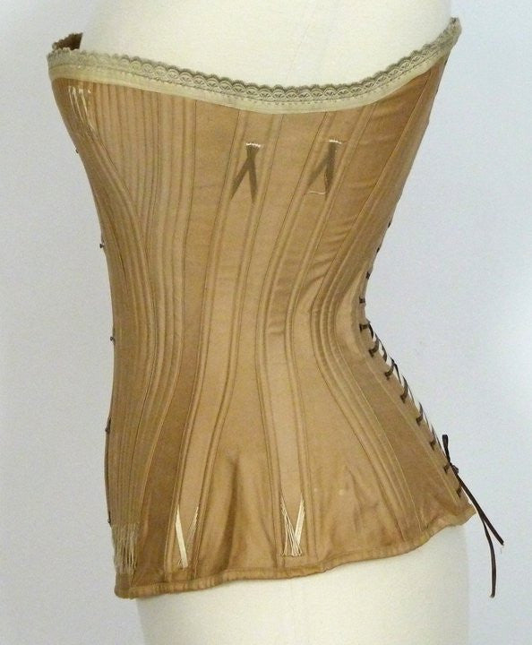 Brown Royal Worcester Corset from the Mid 19th Century
