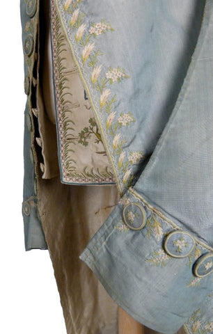 Figural Embroidered Coat and Waistcoat from the 18th Century