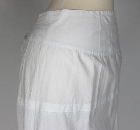 White Cotton Petticoat for a Bustle Gown from the Late 19th Century