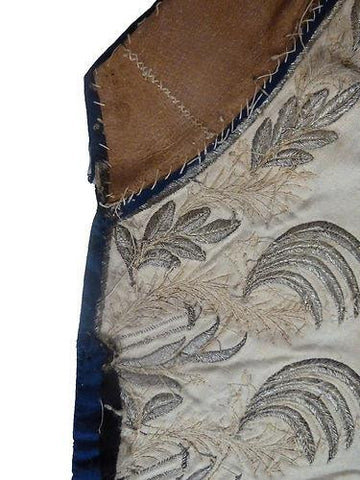 Silver Embroidered Waistcoat Fragments from the 18th Century