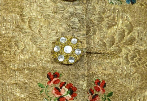 Deaccession Maison Moreau D. Baron Gold Metallic Fancy Dress Waistcoat c. 1878
