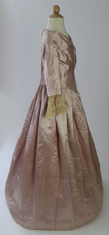 Nineteenth Century One Piece Silk Gown from the 1830's