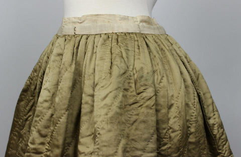 Wonderful Quilted Silk Petticoat from the Mid 19th Century