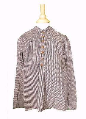 Antique Tiny Star Print Calico Maternity Top Entirely Hand Stitched c. 1860's