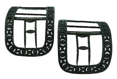 Pair of Museum Deaccessioned Pewter Shoe Buckles from the 18th Century