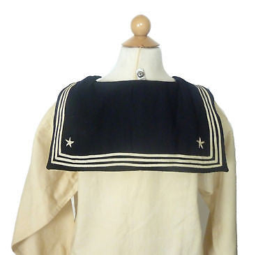 Museum Deaccession ID'd Vanhorn WW II Naval Uniform Shirt, Pants, Hat & Bandana