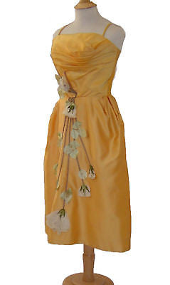 Goldenrod Acetate Satin Party Dress Owned by Fred Crane from Gone with the Wind