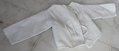 Antique White Cotton Baby's Jacket with Center Front Ties