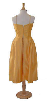 Olivia De Havilland's Goldenrod Acetate Satin Party Dress From the Fred Crane Collection