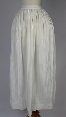 Antique White Cotton Apron in Wonderful Condition