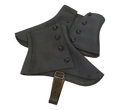 "Pair of Gray Spats with Original Buttons, ""Standard"" SPATS"