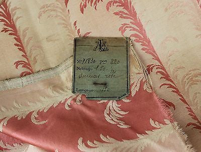 Beautiful Parisian Antique Silk in Pink and Ivory