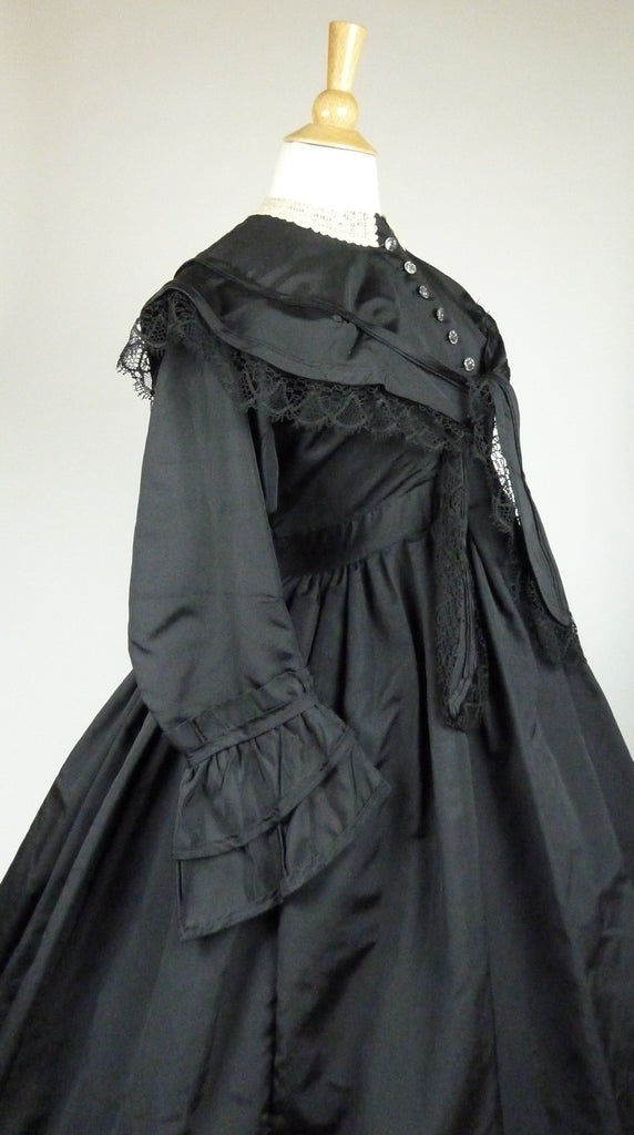 19th Century Maternity Mourning Gown