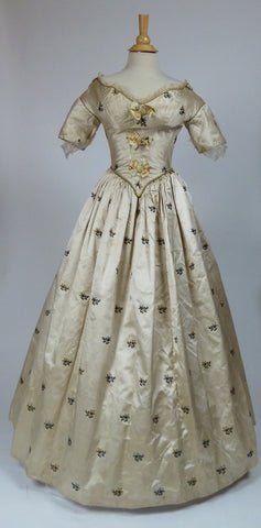 19th Century Gown with Portraits