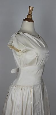 Ivory Satin Vintage Wedding Gown Dates to the 1950's