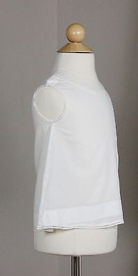Lovely Antique White Cotton Baby Dress with Embroidery Buttons at the Shoulders