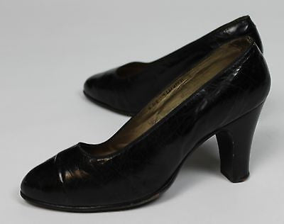 Museum Deaccession Antique Women's Leather High Heel Shoes, Nancy Haggerty NY