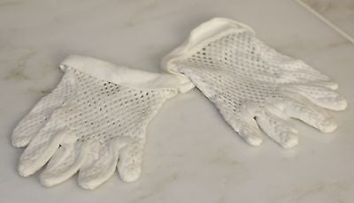 A Pair of Lovely Antique Baby Gloves in White