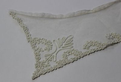 Lovely Antique Women's White Collar in White Cotton