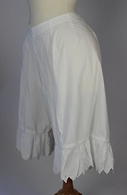 Antique White Cotton Pantalettes