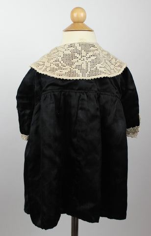 Antique Morning Dress Child's Silk from the Mid to Late 19th Century