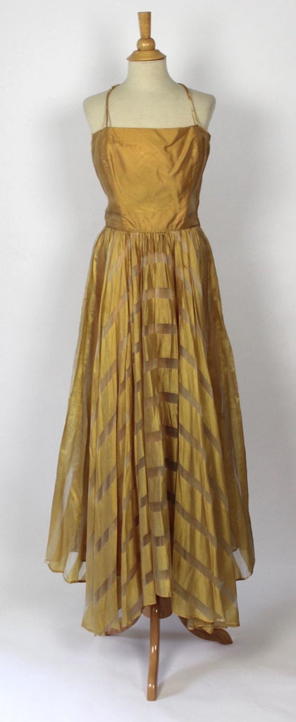 Vintage Dress Stunning Golden Silk Dress from the 1950's